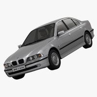 3d bmw e39 sedan luxury