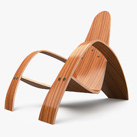 3d model bent lounge chair