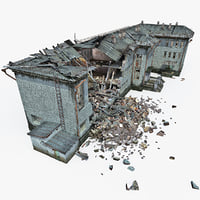 3d destroyed house 10 model