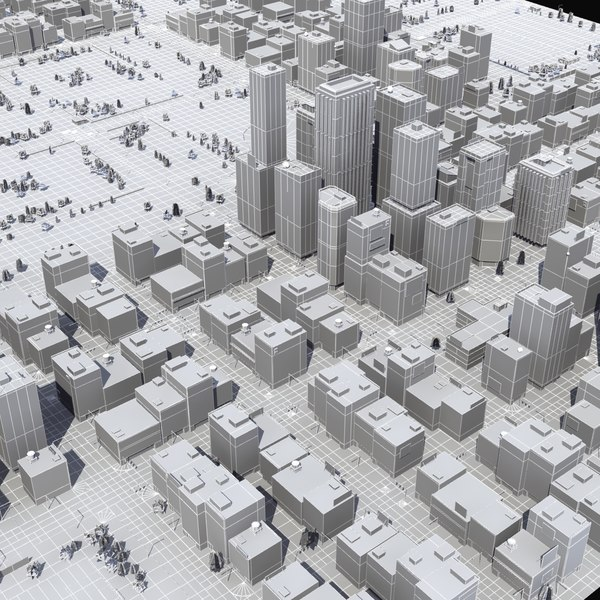 urban city 3d model - Urban City St03 LW... by ES3DStudios