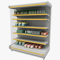 3d model supermarket shelf 1