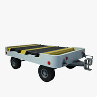 3d baggage cart airpt