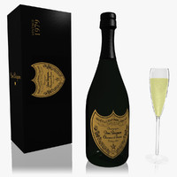 vintage dom perignon champagne 3d model