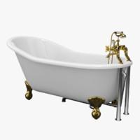 vintage bathtub kent obj