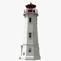 louisbourg lighthouse 3d model