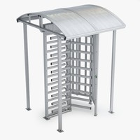 3d max turnstile gate door
