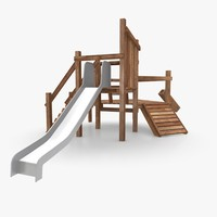 3d playground climbing slide model