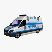 3d nypd police van model