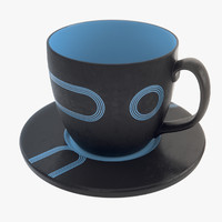 3d large tea mug model