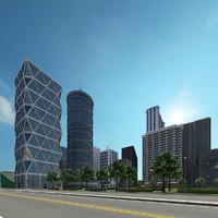 new city 1b 5 3d max