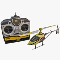 walkera mini helicopter set 3d model