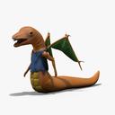 cartoon worm 3D models