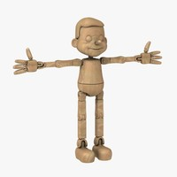 3ds max wooden puppet
