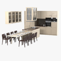 3d castagna kitchen furniture set
