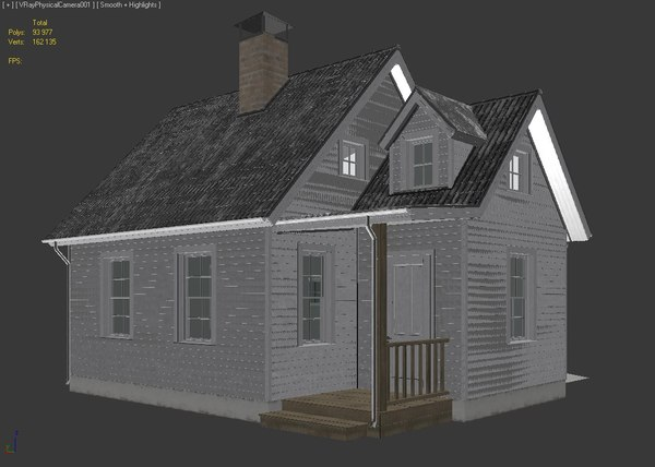 3d model realistic country house - Country House... by 3DSerg