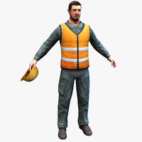 Real-Time Worker 3D Model
