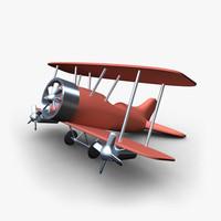 toy plane obj