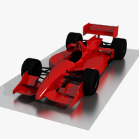 3d formula racing car
