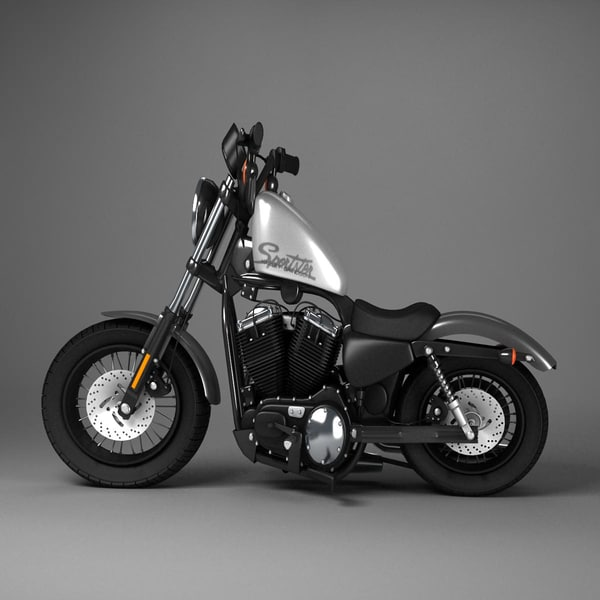 Harley Turbo Review: 3d Harley Davidson Sportster Model