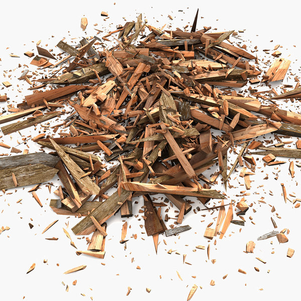 3ds max wood debris