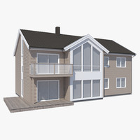 3d model realistic house lun nb