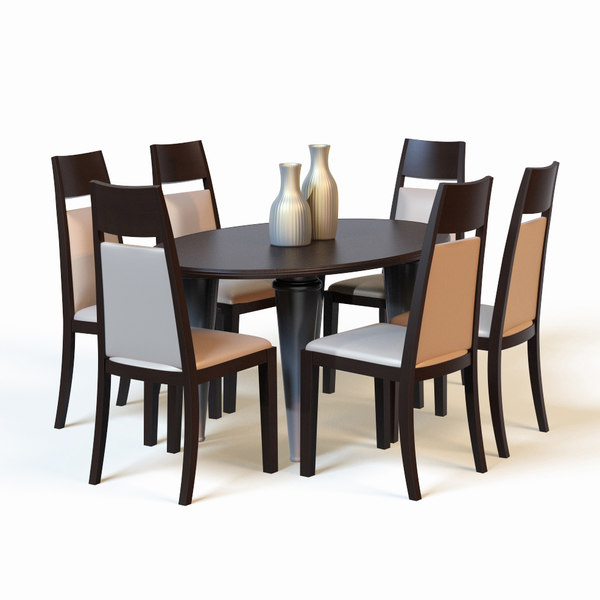 3d model dining table for Dining table models
