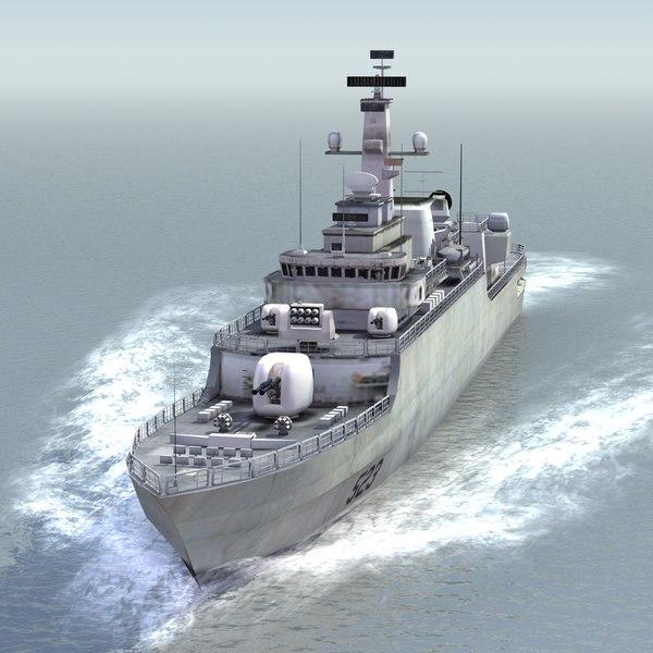 3d chinese navy jiangwei frigate el