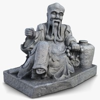 thailand oldman sculpture 3ds