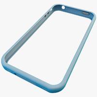 blue iphone 4 bumper 3d model