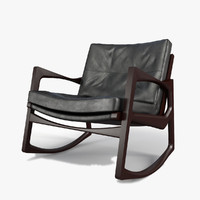 euvira leather armchair 3d model