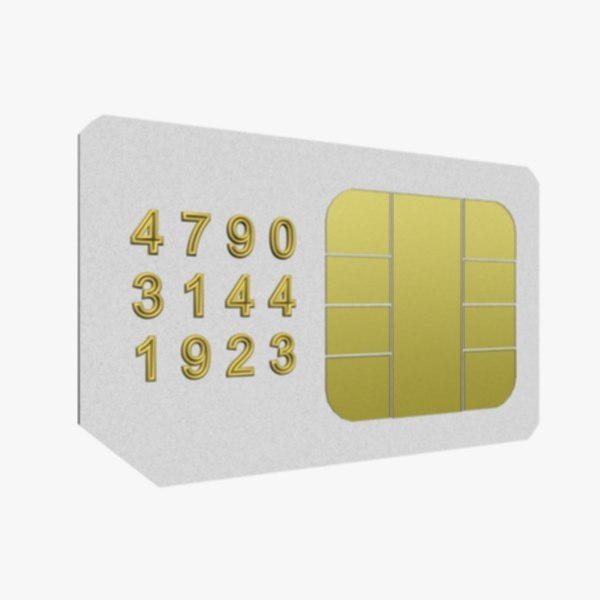 3ds max sim card - Sim Card... by Kitty_Toft