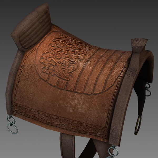 medieval saddle 3d model - Saddle... by Dezorza