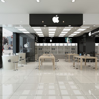 3d model of store interior apple
