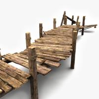maya wooden pier wood