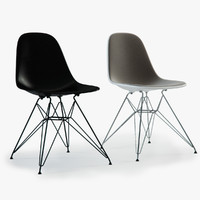 Photoreal Eames Plastic Side Chairs (DSR)