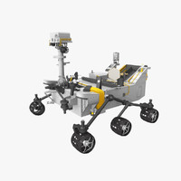msl curiosity rover 3d 3ds
