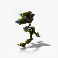 Maintenance Robot Animated & Rigged