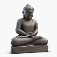 3d obj indian statuette india