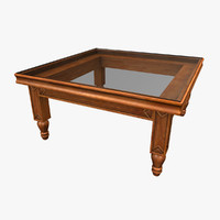 3d model small square coffee table