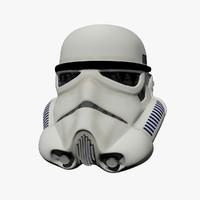stormtrooper helmet 3d max