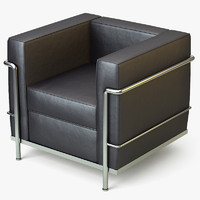 maya chrome armchair