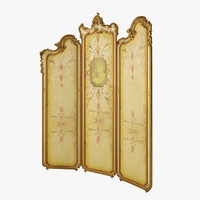 3d classic folding screen model