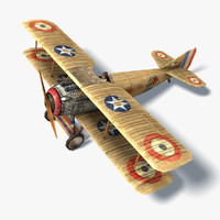 Spad XIII Low Poly