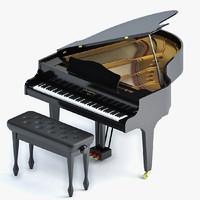 3d max grand piano