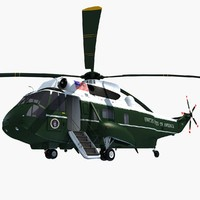 3d marine helicopter model