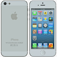 white iphone 5 cellphone 3d max