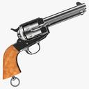 Remington Police Revolver 3D models