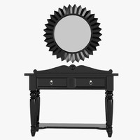 3d traditional american console table model