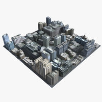 3d cityscape old houses model