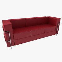 Modern Style Leather Sofa 3 Seats